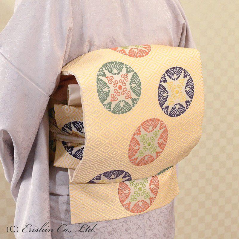 着心地ご案内(着物・帯・羽織りもの)有職織物の名古屋帯 二陪織物と穀の帯