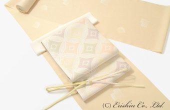 紋紗小紋(源氏香柄)に紗袋帯