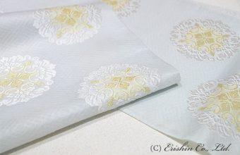 有職織物 紗袋帯(顕紋紗/唐花文・瓶覗色)
