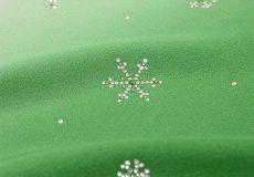スワロフスキー雪の結晶柄帯揚げ