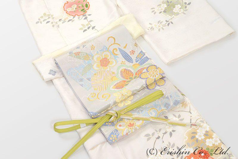 訪問着(百花)と袋帯のコーディネート