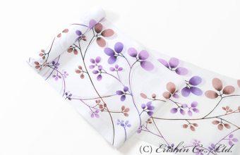 竺仙/ちくせん 綿絽白地浴衣(萩)