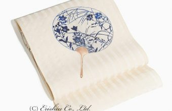 染名古屋帯(飾り団扇)夏・単衣向き