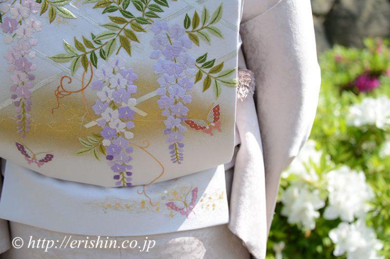 えり新オリジナル刺繍袋帯