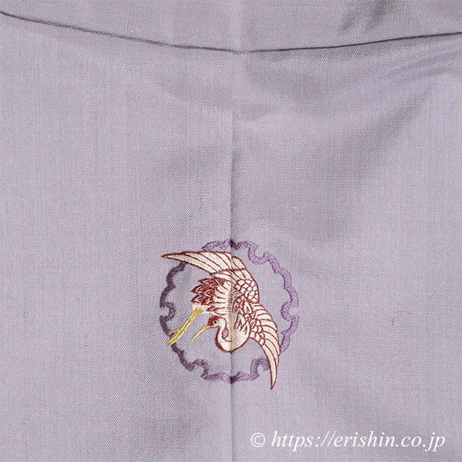 刺繍洒落紋(雪輪に鶴)