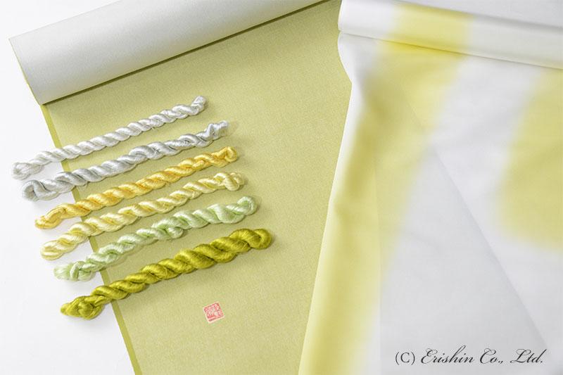 洒落紋 刺繍糸 緑