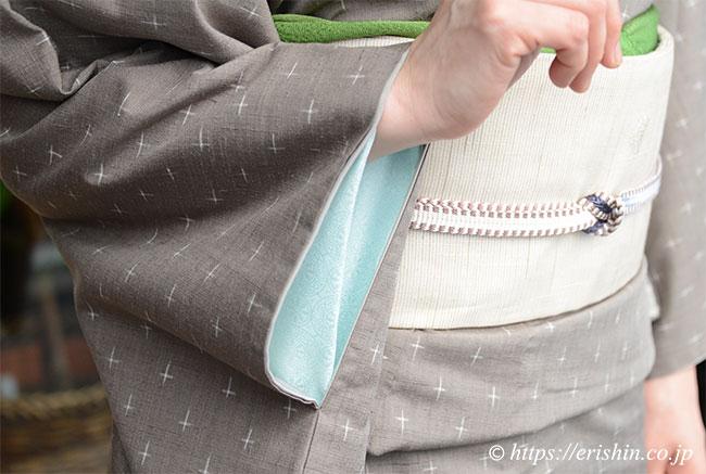 シンプルな着物と帯
