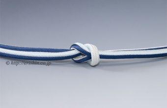 帯締め 丸唐大和組/紺色×白藍×白