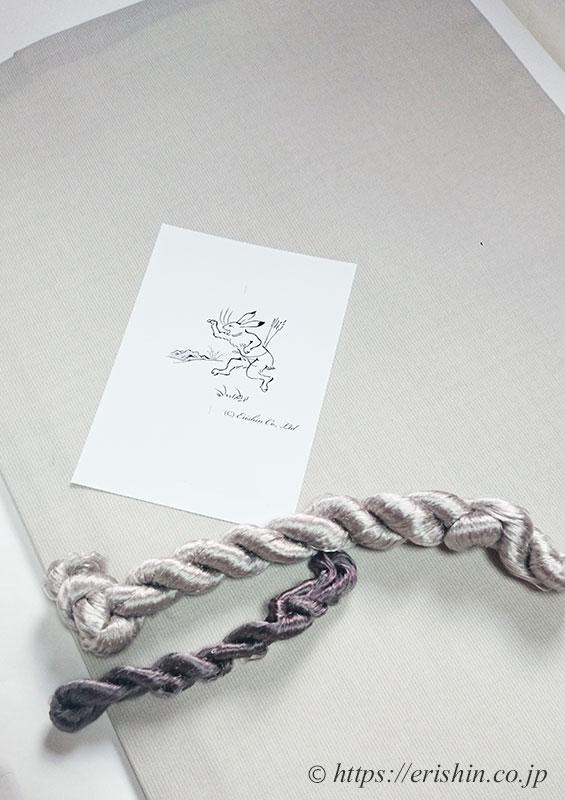 刺繍洒落紋(鳥獣戯画)