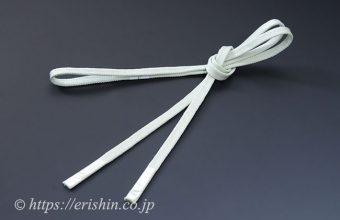 三分紐 帯締め兼用(金線散らし/白緑色)