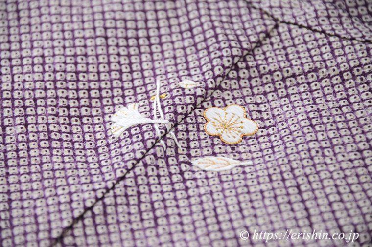 リフォーム例(絞り羽織に刺繍洒落紋)