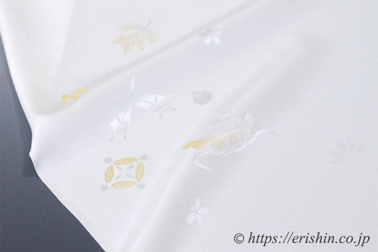 礼装用白長襦袢反物(宝尽くし地紋)