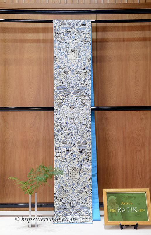 Ariri 手描きバティック(京袋帯・信州紬地/ 絹100%)