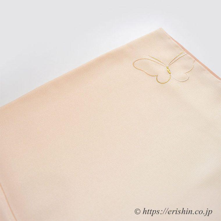 えり新オリジナル付下「刺繍・線上げの蝶」