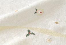 クリスマス刺繍帯揚げ