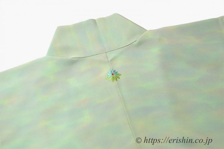 刺繍洒落紋のお誂え「ゆずり葉」仕立て上がり後