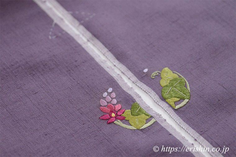 お誂え刺繍洒落紋(葛花の丸)