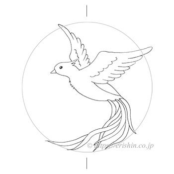 お誂え刺繍洒落紋(飛翔)図案