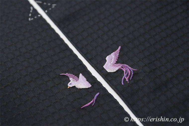 お誂え刺繍洒落紋(飛翔)