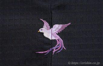 お誂え刺繍洒落紋(飛翔)仕立て上がり