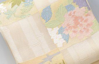 紗袋帯(竹林市松花文)