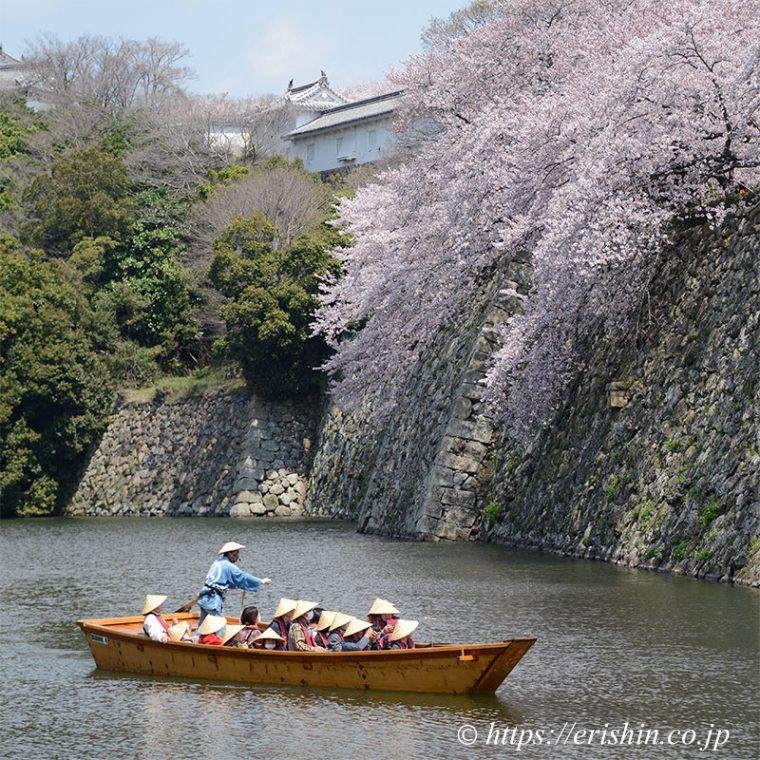 姫路城のお堀巡り