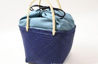 竹籠巾着バッグ