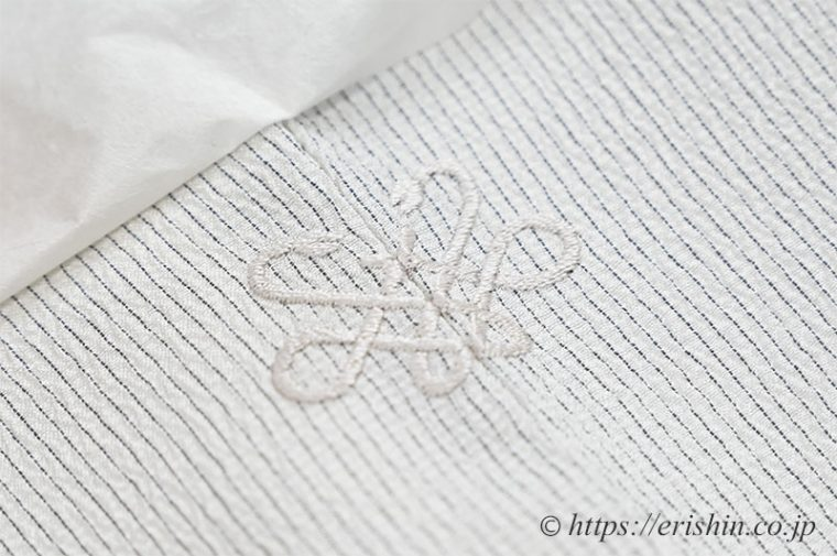 お客様オリジナル手刺繍洒落紋