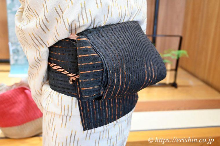 昭和村で作られたからむしの帯