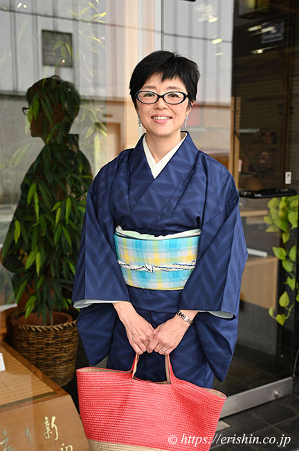 伊藤峯子さん作の織名古屋帯