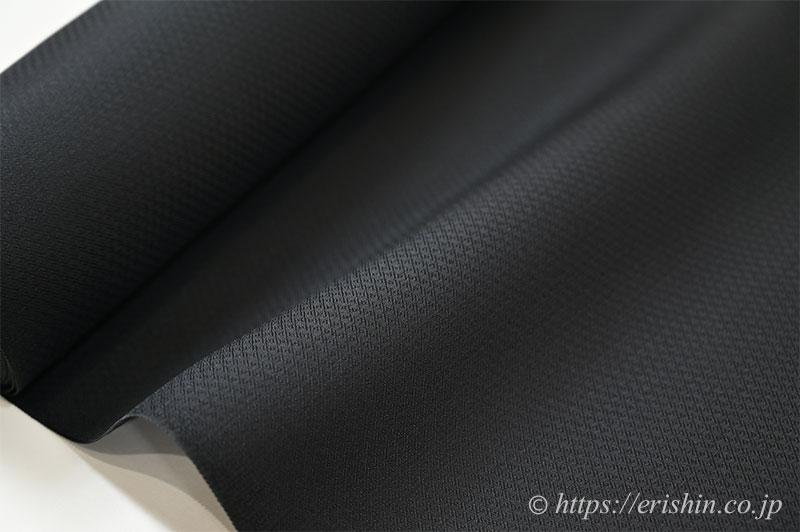 勝山さと子 絹雲織(無地/黒色・扁平糸)