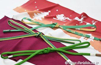 クリスマスにお勧めの帯締めと帯揚げ