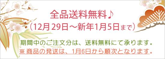 全品送料無料♪(12月29日~新年1月5日まで)