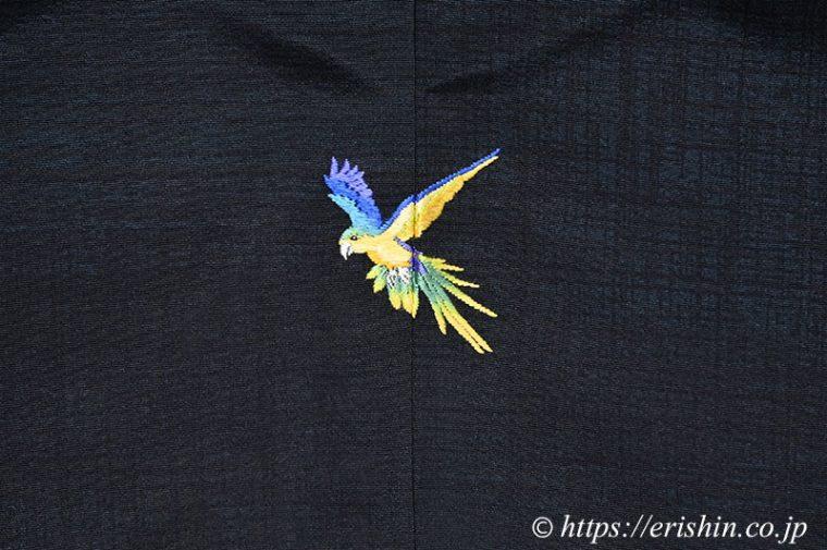 オリジナル洒落紋(飛翔する鸚哥)