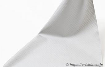 オリジナル塵よけ兼雨コート「小市松重ね」白花色