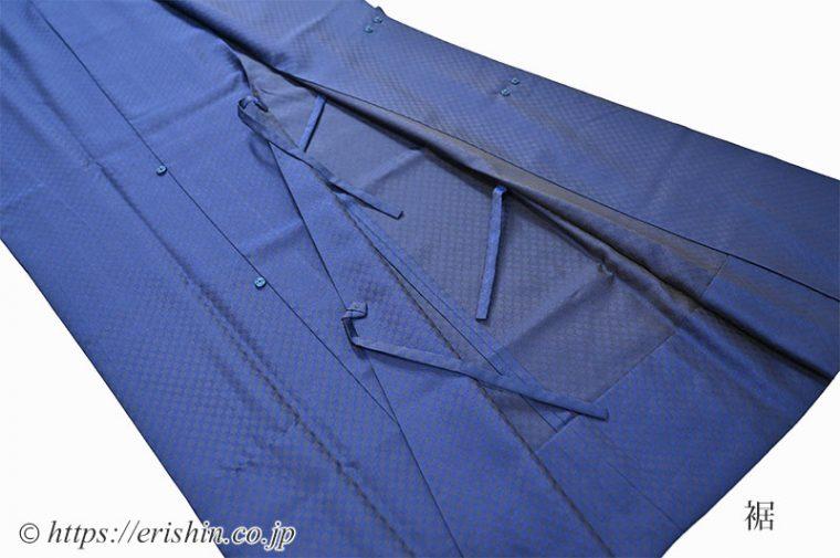 オリジナル羽織もの「市松on市松」の紐とスナップ