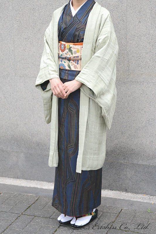 えり新オリジナル羽織りもの「市松on市松」羽織仕立て