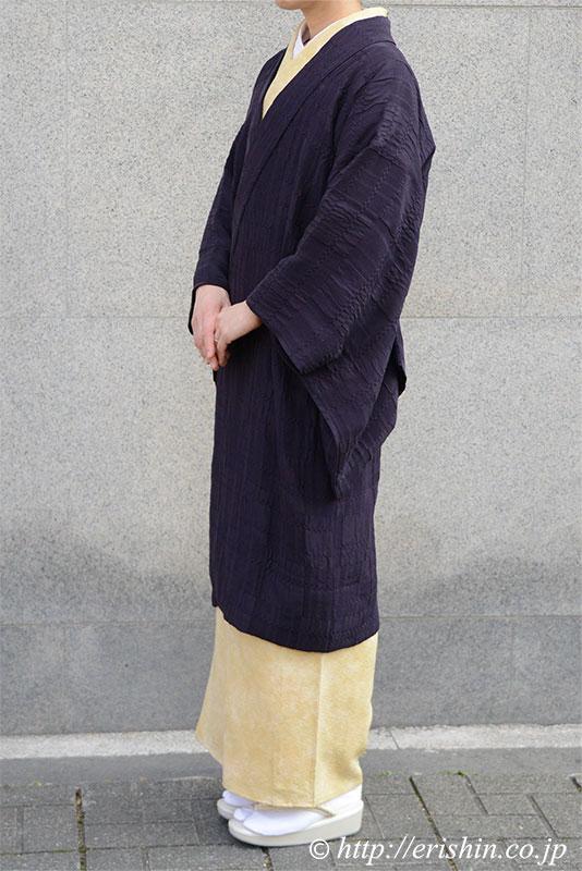 えり新オリジナル羽織りもの「市松on市松」道中着仕立て