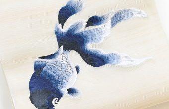 夏名古屋帯(金魚・刺繍)