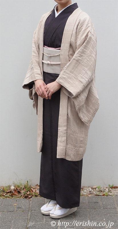 えり新オリジナル羽織りもの「市松on市松」