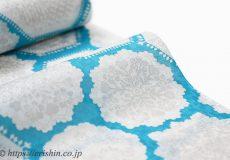 誉田屋源兵衛 浴衣(綿・トレド華紋/トルコブルー)広巾