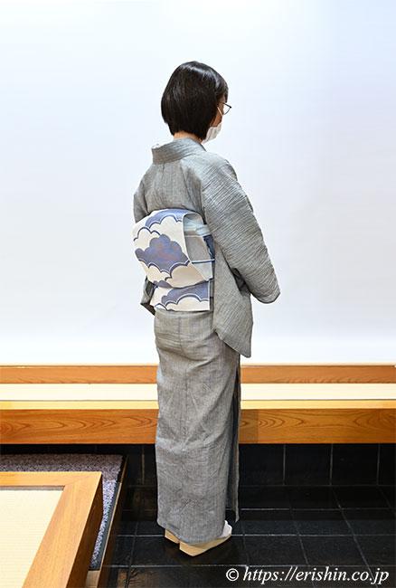 小千谷縮と竪絽名古屋帯をお召しの兵庫県N様