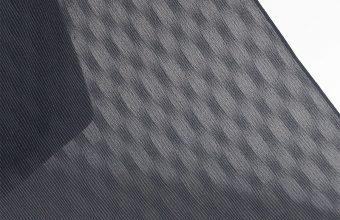 明石縮(よろけ小格子無地/墨黒)広巾