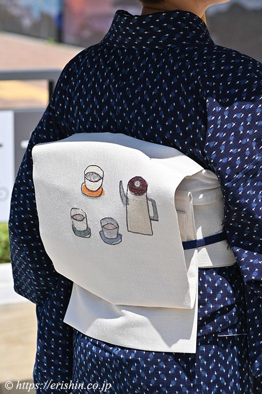 兵庫県 E様 小川内さんの木綿にカフェタイムの帯