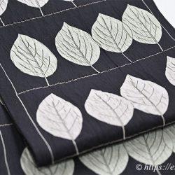 木屋太 袋帯(くちなしの葉/ふくれ織り)