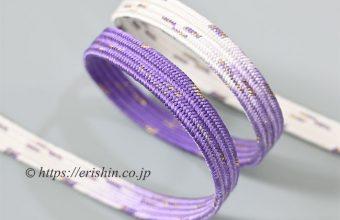 帯締め 貝の口雲型(藤紫)