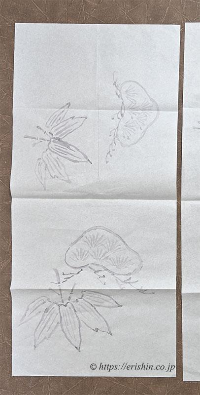 染名古屋帯(松竹/塩瀬)の図案