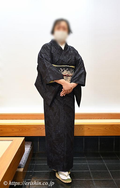 Ariri(アリリ)の手描きバティック名古屋帯(金魚と唐草)兵庫県様