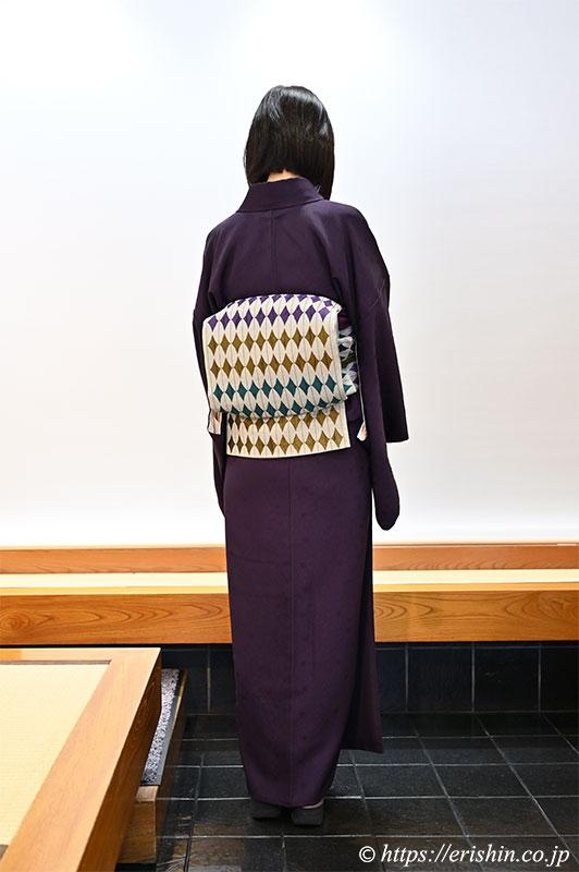 染め替え小紋に木屋太さんの帯(兵庫県 N様)