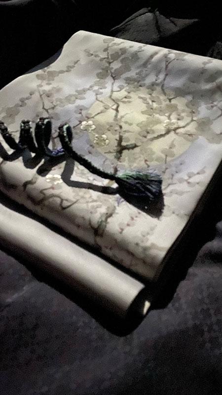 えり新オリジナル染名古屋帯(梅花晧月図) A様のコーディネート